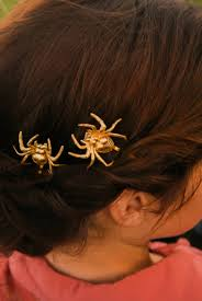 halloween hair pin spider bobby pins gold spider hair clip