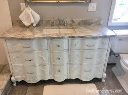 bathroom vanity cabinet we custom convert from vintage french