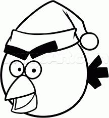 draw christmas angry bird step step christmas stuff