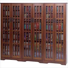Multimedia Cabinet With Glass Doors Leslie Dame M 1431wal Walnut Mission Style Glass Door Multimedia