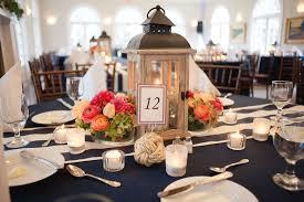 Coral Wedding Centerpiece Ideas by Vintage Nautical Wedding Ribault Club Jacksonville Florida