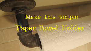 paper towel holder hack using plumbing pipe actually works
