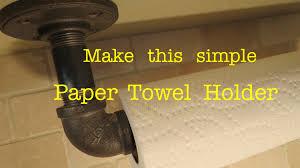 Paper Towel Holder Hack Using Plumbing Pipe Actually Works