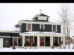 black house exterior with white trim classic american four