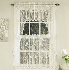 alison lace balloon shade w attached queen anne valance u2013 marburn