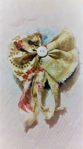 tattered country style hair bow hair accessory hair piece pin