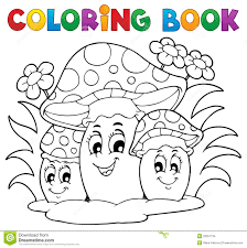 coloring book mushroom stock images image 29357734