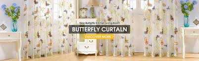Butterfly Kitchen Curtains by Sinogem Brand Drapes Sheer Window Curtains For Living Room The