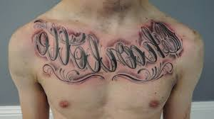 mens chest tattoos writing 1000 images about chest pieces script