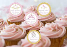 princess baby shower princess baby pink gold baby shower cupcake toppers pavia