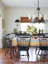 Ring Back Dining Chair Stick Back Windsor Chairs Dining Room Traditional With Blue And