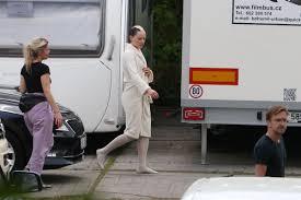 daisy ridley on set of new movie