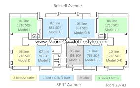 Echo Brickell Floor Plans Bond Brickell Floorplans Miami Condo Lifestyle
