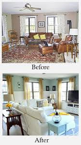 living room makeovers before and after a very traditional dark