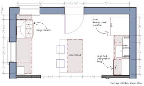 kitchen floor plans islands attractive how to layout an efficient kitchen floor plan freshome