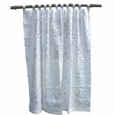 India Shower Curtain Tilonia Home Barmer Applique Shower Curtain White On White