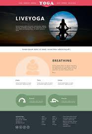 yoga website design templates examples