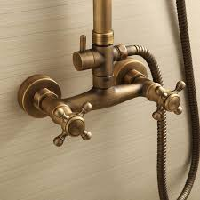 Brass Shower Faucets Sweet Bathroom With Antique Brass Idea For Chic And Stylish Feel