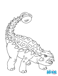 ankylosaurus coloring pages hellokids com