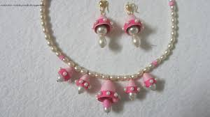 quilling earrings set hobby crafts pearls and pinks