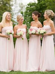 pink bridesmaid dresses buy a line strapless floor length pink chiffon bridesmaid dress