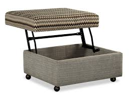 storage ottoman with casters customizable lift top storage ottoman with casters by craftmaster