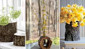 Pictures Of Tree Stump Decorating Ideas 24 Beautiful Decorative Vases Made From Tree Stump Amazing Diy