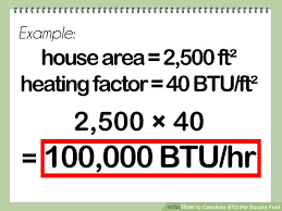 Calculating Square Footage Of House How To Calculate Btu Per Square Foot With Calculator Wikihow