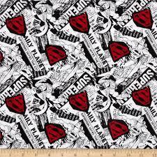 superman news black white red discount designer fabric fabric com