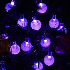 warm white solar fairy lights solar lamps 7 5m 30leds crystal ball luz waterproof colorful warm