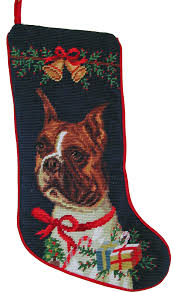 christmas needlepoint boxer christmas gifts a of dogs for the of