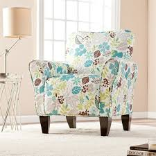 Turquoise Accent Chair Southern Enterprises Madigan Accent Arm Chair In Floral Print Up9308
