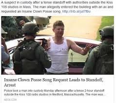 Insane Clown Posse Memes - dopl3r com memes insane clown posse song request leads to