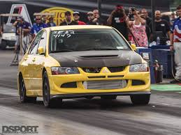 evo 8 spoiler 9 second evo viii runs at 53psi turbo taxi dsport magazine