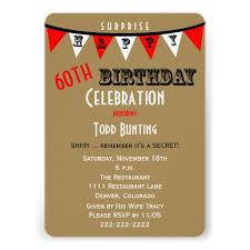 2 impactful 60th surprise birthday party invitations