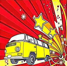 volkswagen van art burst vw cartoon volkswagen camper van luxary extra large cushion