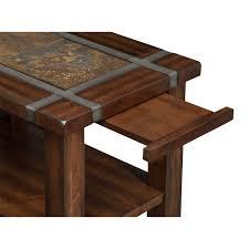slate ridge chairside table cherry american signature furniture