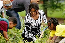 family garden a look back at michelle obama u0027s vegetable garden over the years