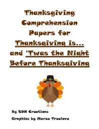 thanksgiving pages comprehension for a fiction and nonfiction book
