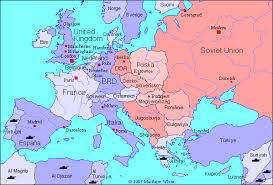 europe map in historical map of europe 1945 1990