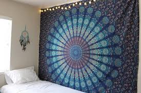 Bedroom Tapestry Indian Wall Bedroom by Amazon Com Handmade Cotton Mandala Bedspread Throw Bohemian