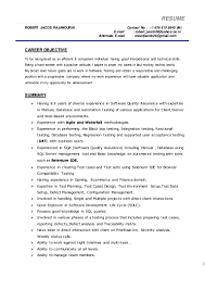beautiful agile testing resume sample images simple resume