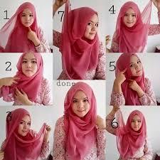 tutorial memakai jilbab paris yang simple cara memakai jilbab paris simpel dan modis kiat cantik