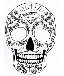 five different sugar skull tattoo coloring pages printable