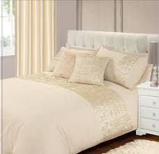 Cream Bedding And Curtains Bedroom Luxury Duvet Covers In Beige With White End Table Also