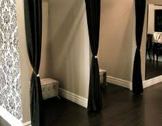 Dressing Room Curtains Designs Dressing Rooms Velvet Black Curtains And White Satin Bows