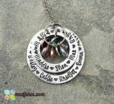 kids names necklace personalized grandmother or necklace with grandchildren s or