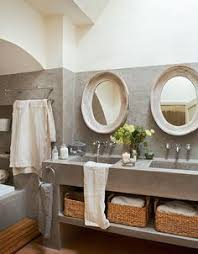 vanity designs for bathrooms cement countertops and open shelf farm house cement
