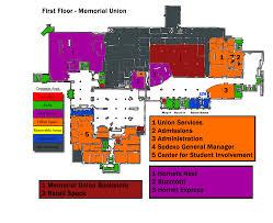 Kansas State University Campus Map by Memorial Union Map Campus Map Emporia State University
