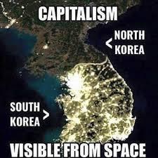 North Korea South Korea Meme - dopl3r com memes capitalism north korea south korea visible